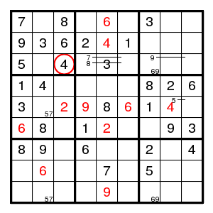 Solving Sudokus Backtrack