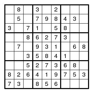 Solving sudokus - Digit patterns
