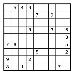 Solving sudokus